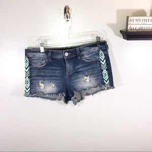 Express Jean Shorts with Embroidery